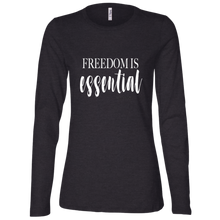 Load image into Gallery viewer, FREEDOM IS ESSENTIAL Ladies' Jersey LS Missy Fit