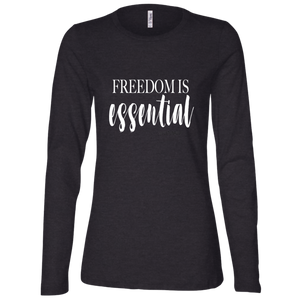 FREEDOM IS ESSENTIAL Ladies' Jersey LS Missy Fit