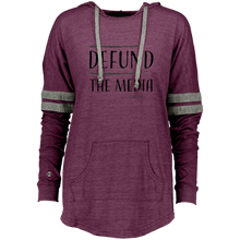 Load image into Gallery viewer, DEFUND THE MEDIA Ladies Hooded Low Key Pullover