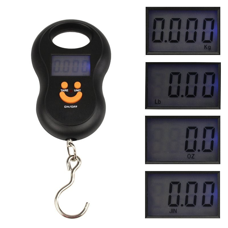 50kg x 10g Mini Digital Steelyard Hanging Scale for Fishing