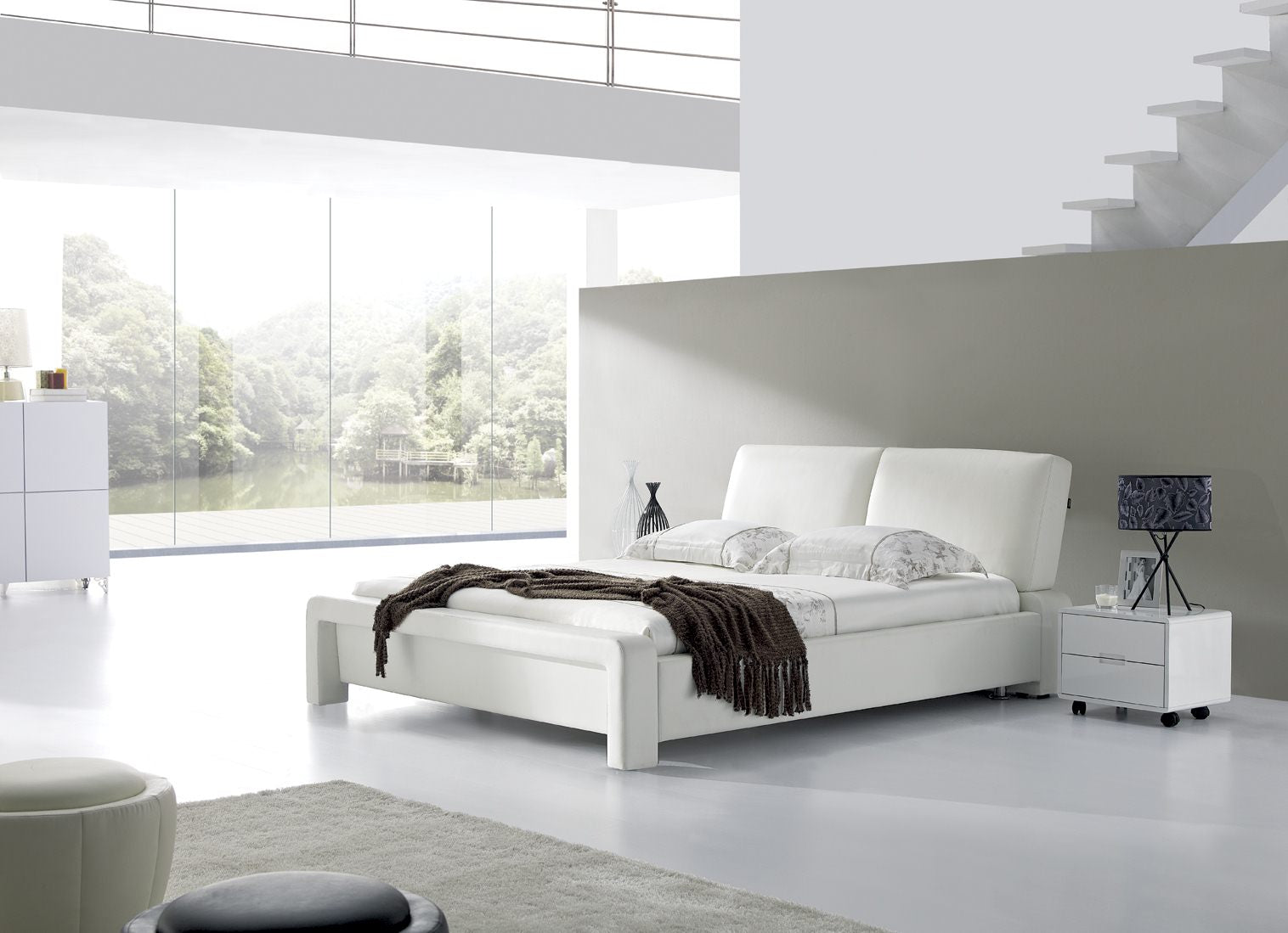 *MG*Modisch Italian Leather Bed, 2 size
