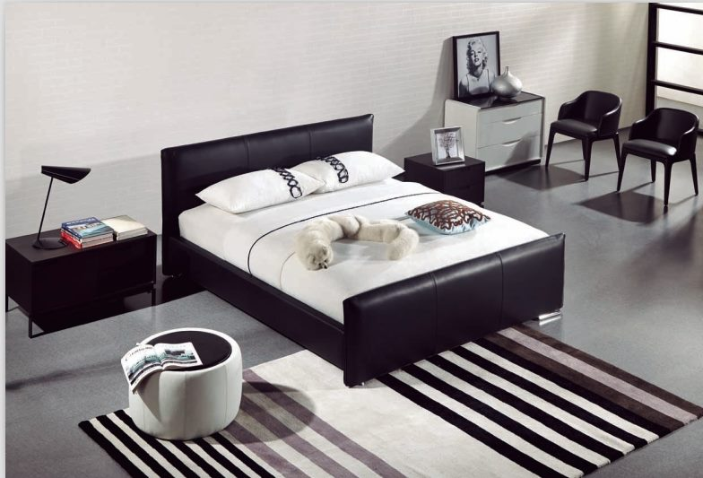 *MG*Full Italian Leather Bed Frame #2192, 15% off, king only