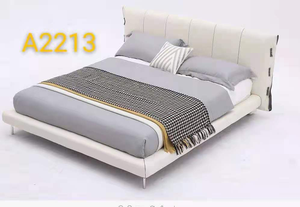 Italian Design Genuine Leather Bed Frame 2213 by order