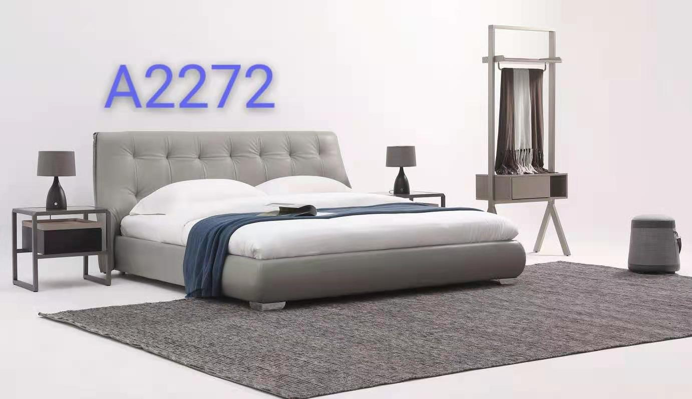 Italian Design Genuine Leather bed frame A2272