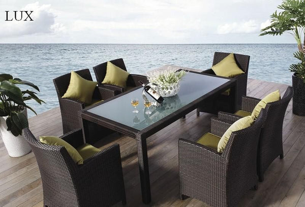*MG*Lux 7pc PE Rattan outdoor Dining Set, Special