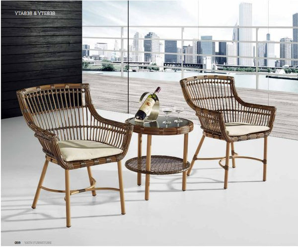 *MG* 3PCS THICK round rattan set YT838, Special
