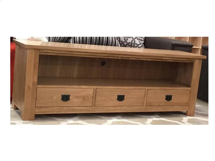 *MG*Solid Oak Entertainment unit 2 size available
