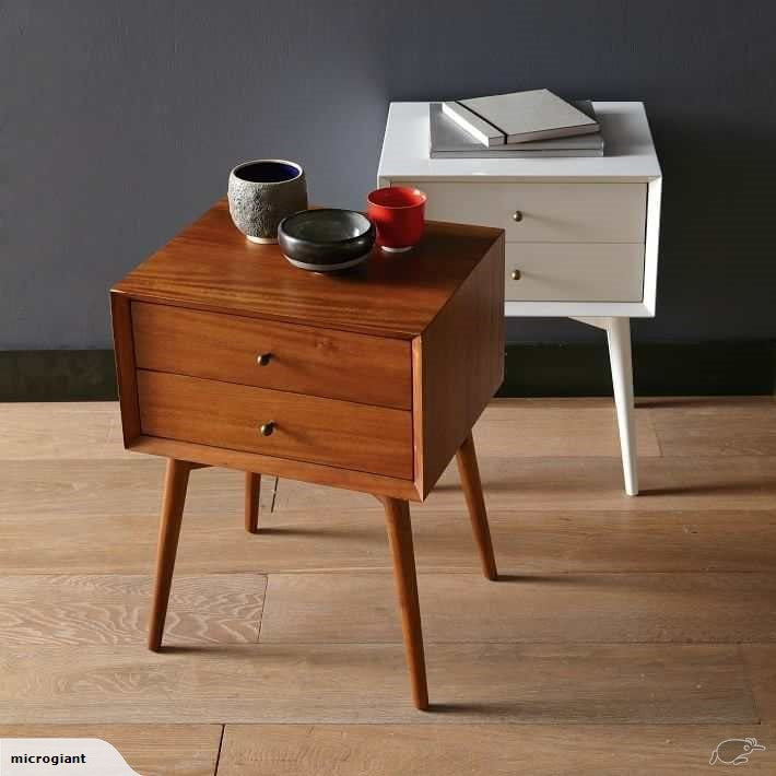*MG*Mida Wood veneer Bed Side table, walnut colour in stock