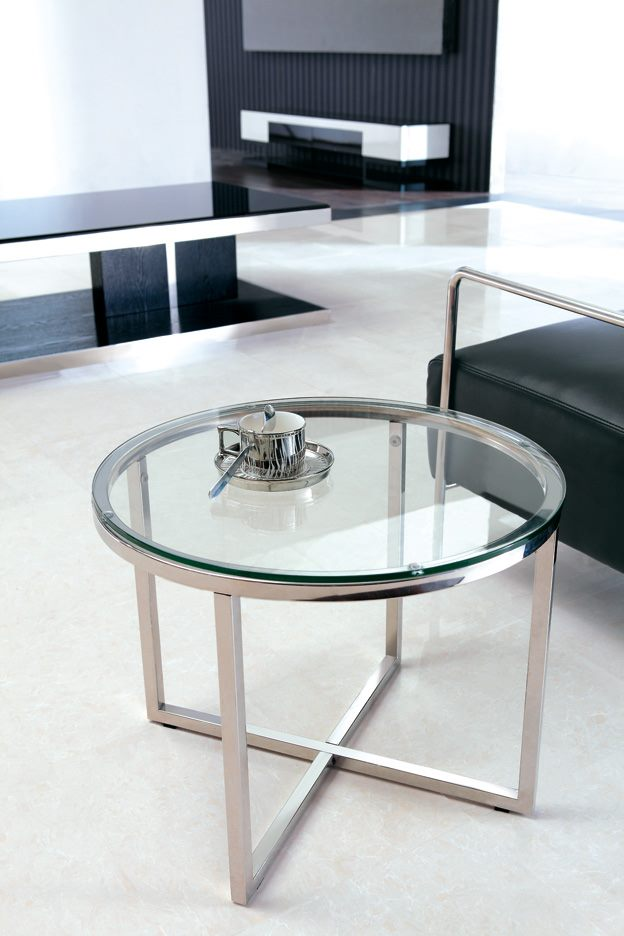 *MG* Stainless steel frame side table #520, in stock