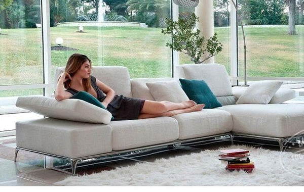 *MG*Stainless steel frame Fabric sofa set #703 by order
