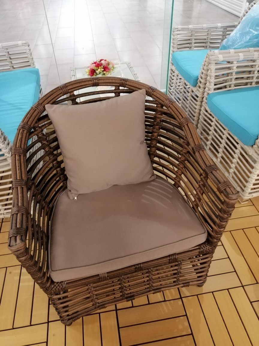 *MG*Peace THICK round rattan set *Special* 3 color in stock