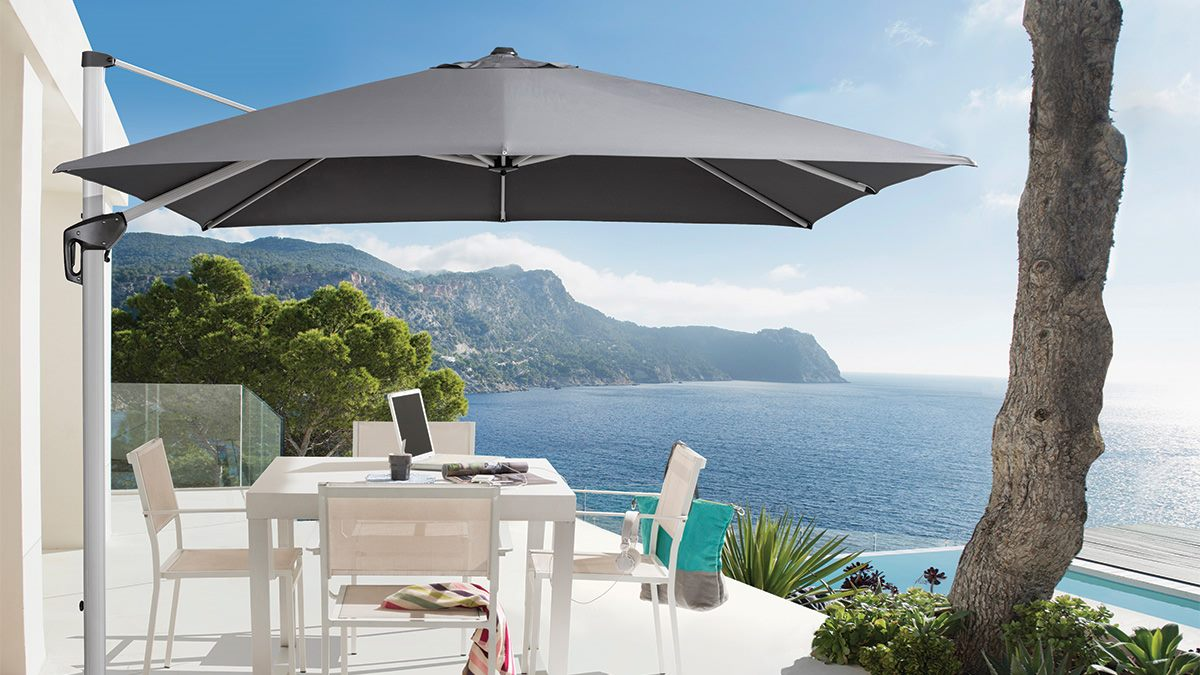 *MG*NZ Made Sun Umbrella 3m round with Base *Special*