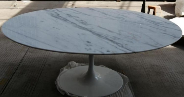 *Mg*Oval shape Marble top Tulip table 199x120cm, IN STOCK