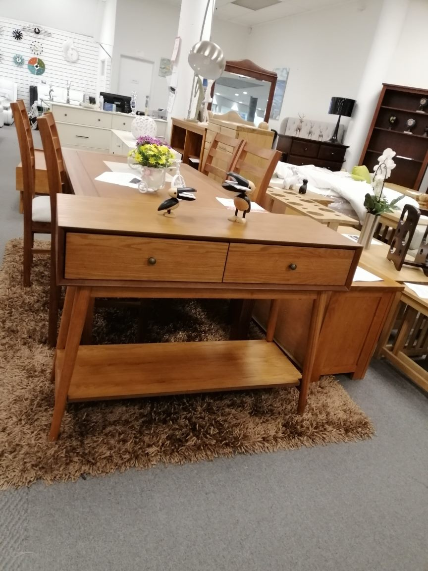 *MG*Mida Ash Veneer Consloe(Hall) table with 2 drawers, 2 color in stock