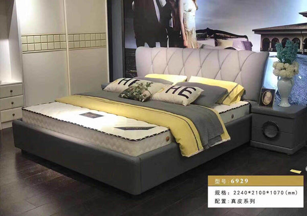 *MG*Great Design Italian Leather Bed Frame #6929, 3 size
