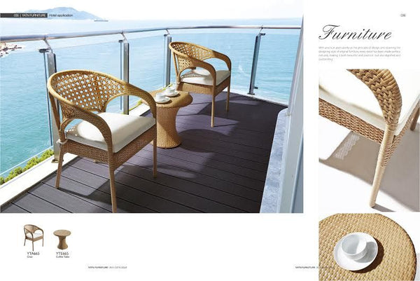 *MG*Teatime-1 3pc PE Rattan outdoor Set. 2 color, Special
