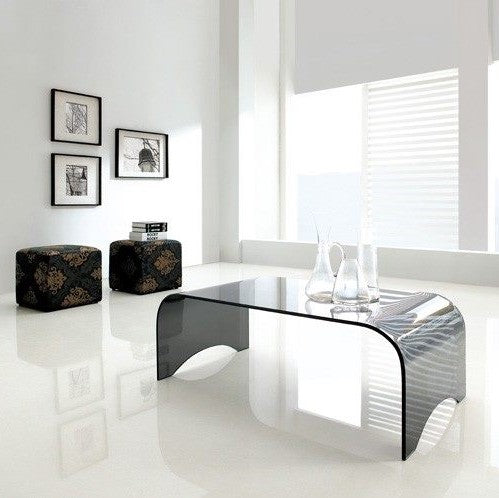 *MG* modern glass coffee table 1.1M, 2 colour *Special*