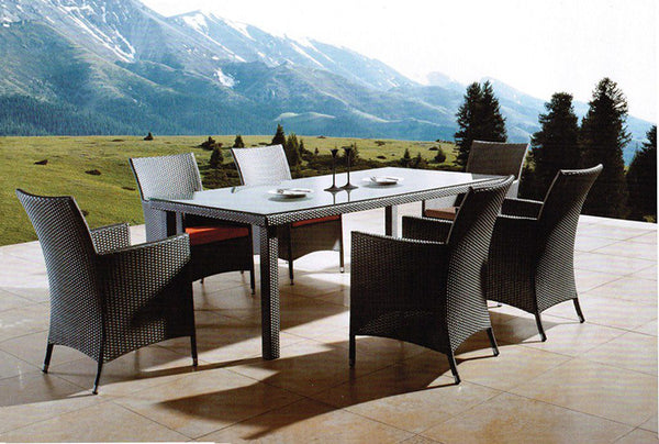 *MG*VICTORY-1, 9pcs Outdoor Rattan Dining Set with 2.2m table by order only