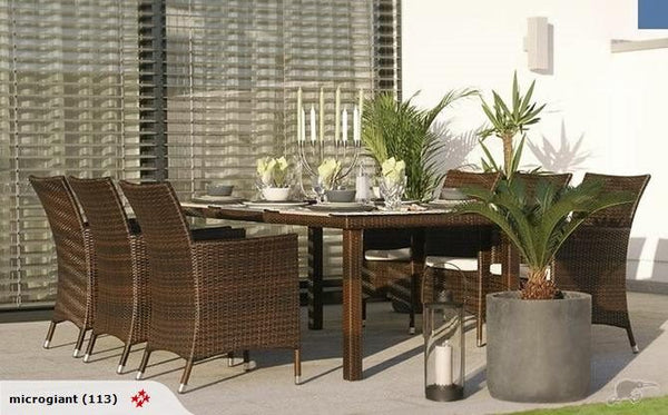 *MG*VICTORY-1, 7pcs Outdoor Rattan Dining Set with 1.8M table by order
