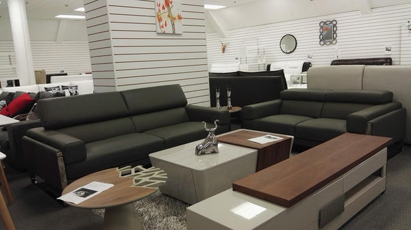 *MG* 3+2 seat Full Italian Leather Lounge Suite #880 IN STOCK