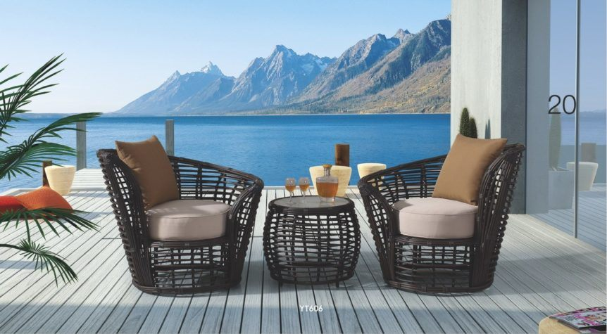 Hamoney Big Round rattan (14mm) sofa set