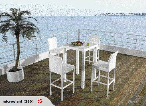 *MG*Enjoy 5pcs Outdoor Rattan Bar Set