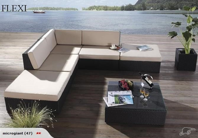 *MG* Flexi 6pc PE Rattan outdoor sofa Set *Special