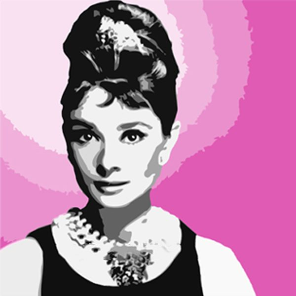 *MG*100% Hand Oil Painting Audrey Hepburn , Ready to Hang up