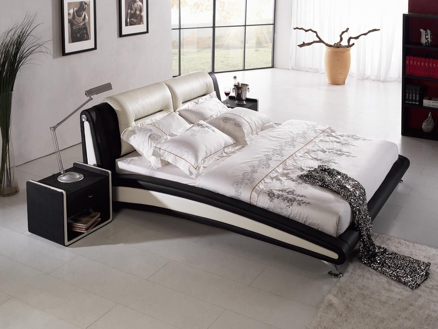 *MG* Italian Leather Bed Frame #8057, 3 size