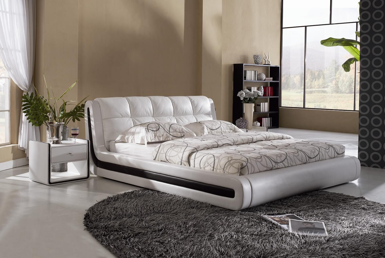 *MG* High Quality Italian Leather Bed Frame #031, 3 size in stock
