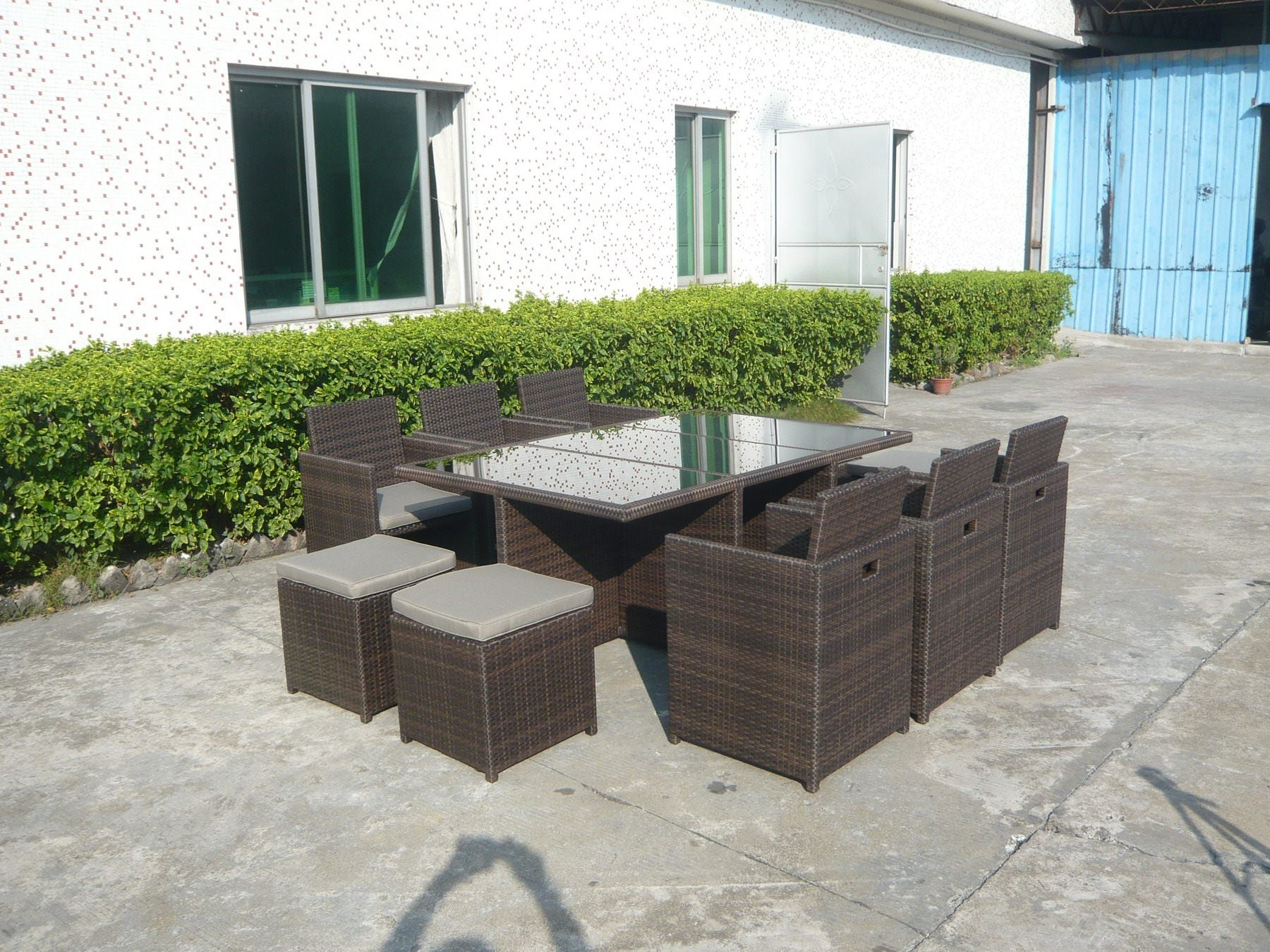 *MG*Beauty Cube 11pcs rattan Dining Set by order