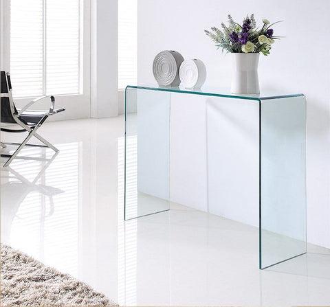 *MG* Glass Console Table 110cm,  2 Color Available *SPECIAL*