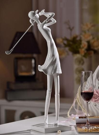 *MG* Resin Golf Girl/Boy Ornament