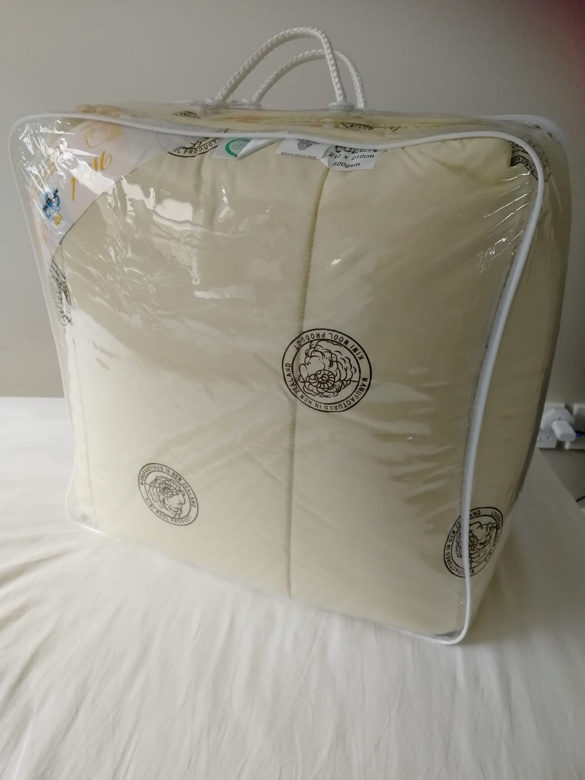 *MG* NZ Made 100% Wool Combo Duvet 550gsm King