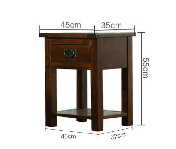 *MG* #219-45 Solid wood Bedside table , dark walnut color available