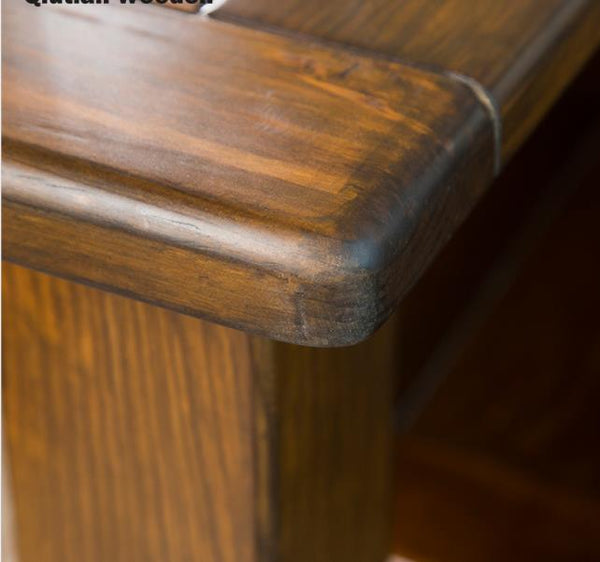 *MG* #210-2 Solid Pine wood Bedside table , Walnut color available