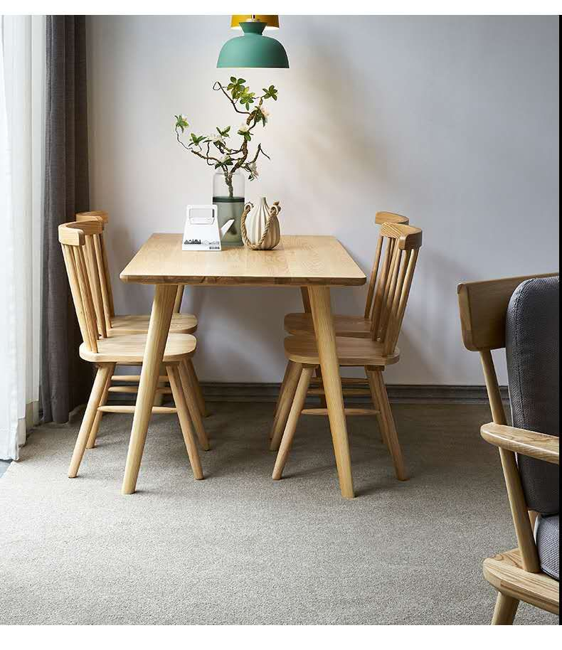 *MG*Solid Ash Extension dining table 1.2m-1.5m