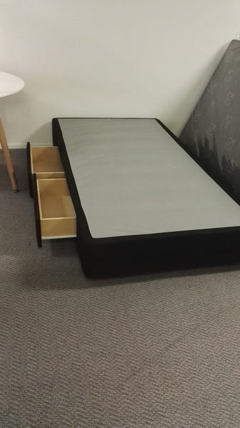 *MG*Double size NZ-made bed base with 2 drawers, 5 years warranty