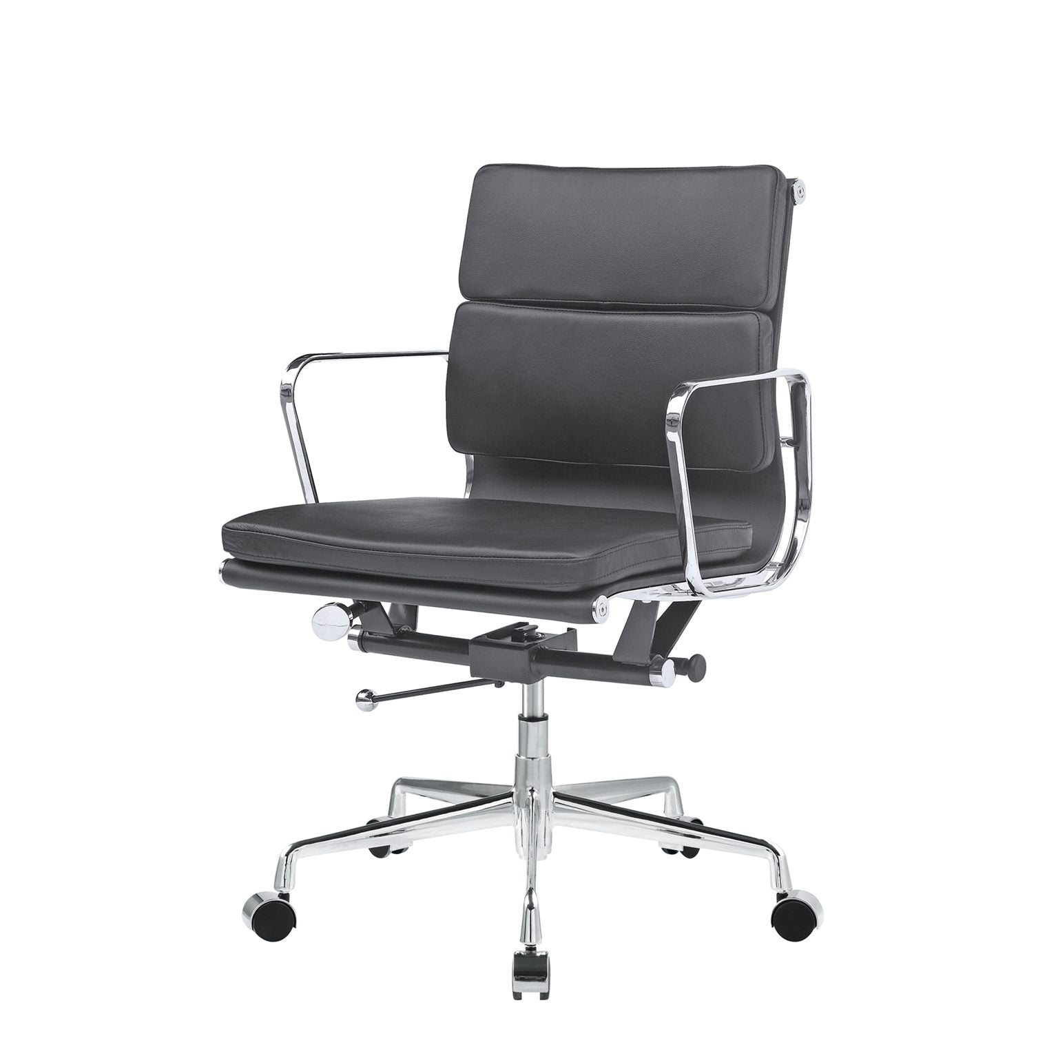 *MG* Replica Soft Pad Genuine Leather Office Chair low Back, *Special* in stock