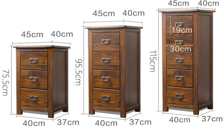 *MG* Solid wood Bedroom cabinet with 3 drawers 75cmH