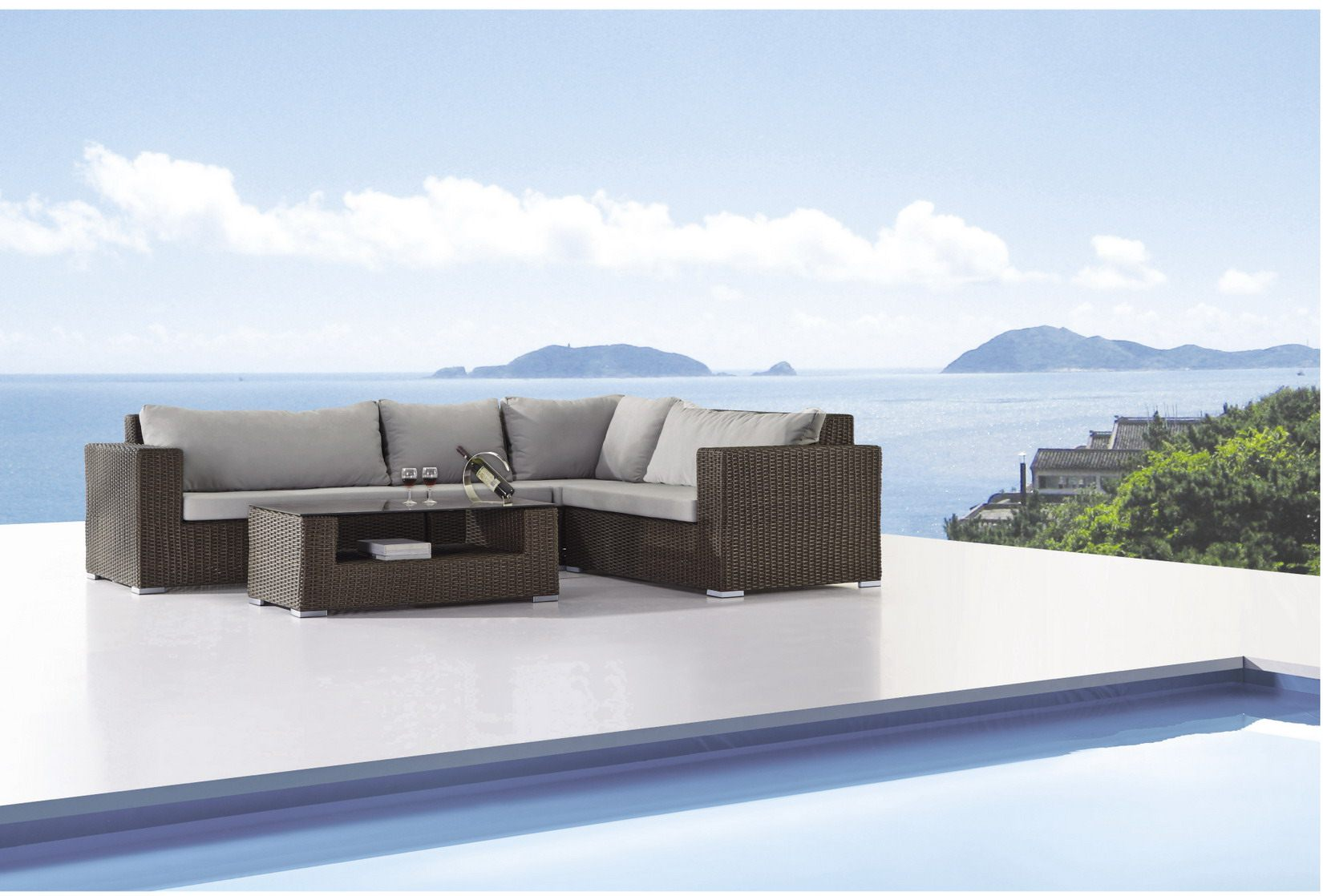 *MG* Lucas PE rattan sofa set 5 pcs, by order only