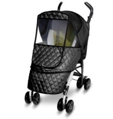 stroller with black Manito Castle weathershield