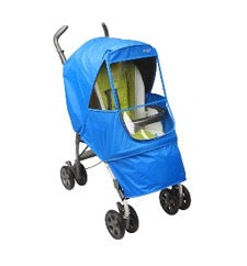 stroller with Manito weathershield in blue