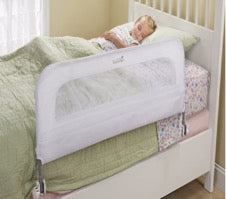 safety bedrail on child's bed