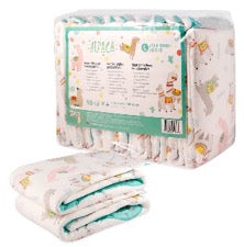 pack of Rearz Alpaca Nighttime diapers with sample on white background