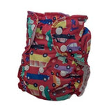 Applecheeks swim diaper in car pattern on white background