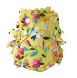 Applecheeks swim diaper in floral pattern on white background