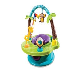 Safari-themed Deluxe Superseat activity seat for babies