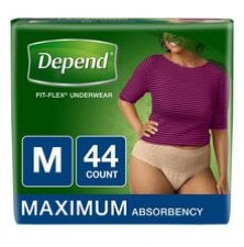 Pack of Depend Fit Flex underwear