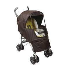 stroller with Manito Elegance stroller cover in brown